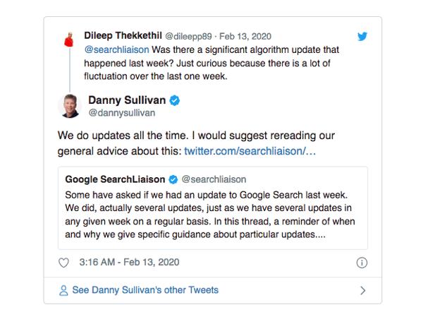 GoogleSearchLiaisonTweet