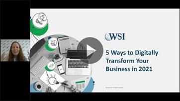 WEBINAR: 5 Formas De Transformar Digitalmente Su Negocio En 2021