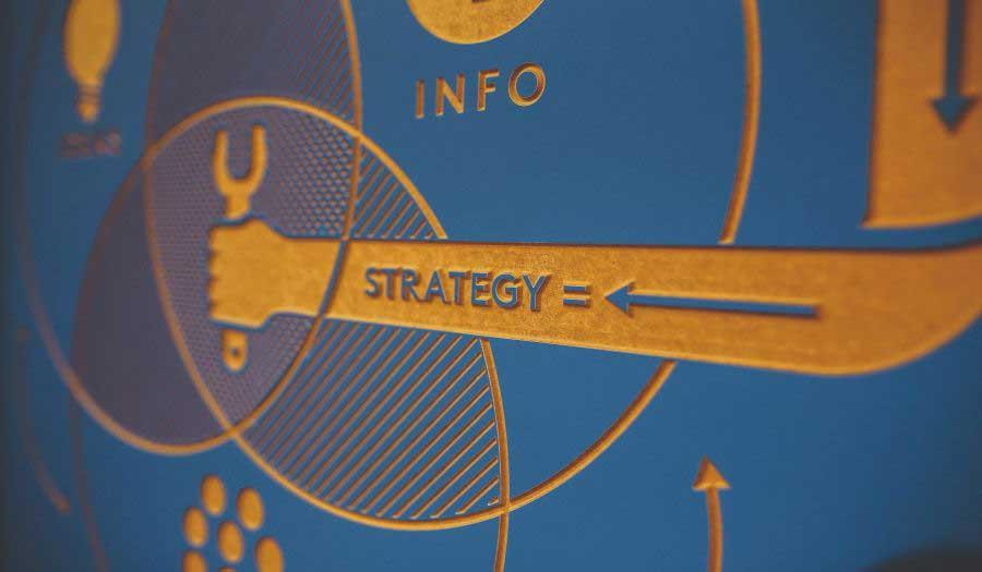 Diagrama mostrando lo que puede ser una estrategia de marketing