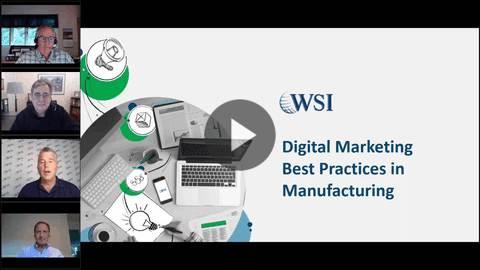 Imagen de la grabación del webinar sobre el marketing en la industria de la manufactura