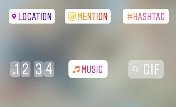Screenshot of Instagram tags.